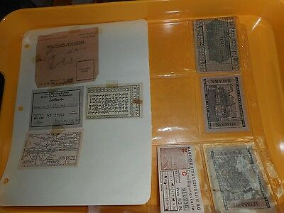 Early Tickets Train Tram Berliner Strassenlokomotive Verkehr Hagener S Rhodesia