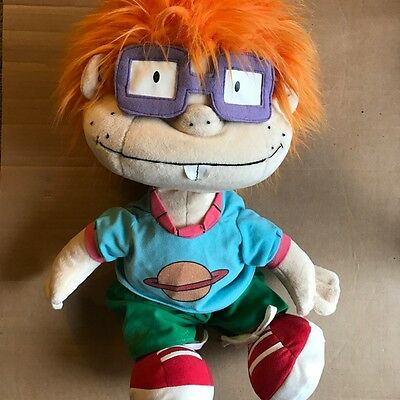 "Rugrats Chuckie 24"" Vintage 2000 Nanco Large Plush Doll Stuffed"