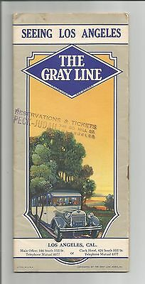 Gray Line, Seeing Los Angeles Tours 6 page booklet, circa 1930