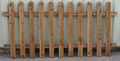 3' x 6' PICKET FENCE PAILING FENCING PANEL garden hard landscaping materials