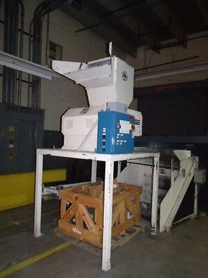 MPG Granulator on Stand with Cleated Incline Feed Conveyor  with extra new parts