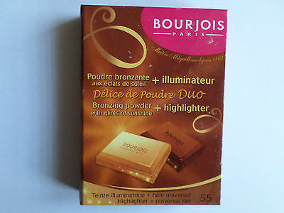 Bourjois Delice De Poudre Duo Bronzing Powder + Highlightor 55