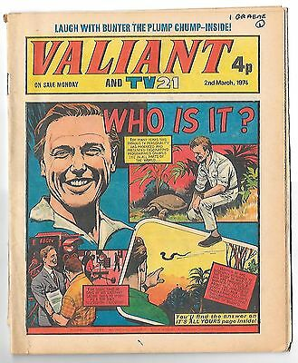 Valiant 2nd Mar 1974 (high grade copy) Kid Phaoah, Kelly's Eye, Janus Stark