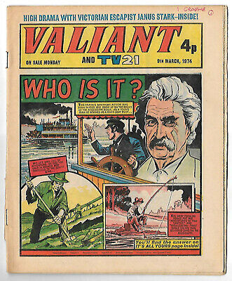 Valiant 9th Mar 1974 (very high grade copy)  Kid Phaoah,Kelly's Eye, Janus Stark