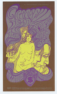 Bill Graham 62 Postcard Grateful Dead Paupers 1967 May 5