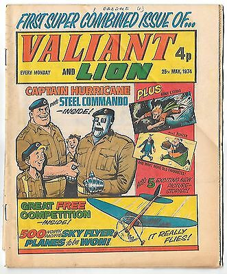 Valiant & Lion 25th May 1974 (very high grade copy) merger issue