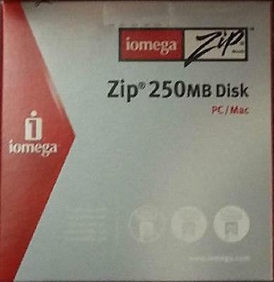 IOMEGA 250Mb ZIP Disk in Cardboard Case for PC / MAC - NEW & SEALED