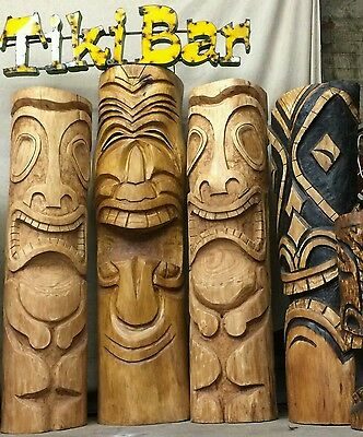 Large hand carved Tiki Carvings, from £225, ask for detals. Tiki bar