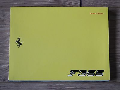Ferrari 355 Owner's Manual Handbook US Version 1995 Model 882/94 - NEW RARE