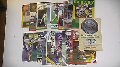 Twenty Assorted Football Programmes from the 1980's