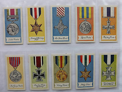 GLENGETTIE TEA - MEDALS OF THE WORLD - 1961 - Full Series of 25  - EX/Mint