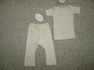Organic cotton baby Yoga pants & T-shirt 0 to 24 months ingeling