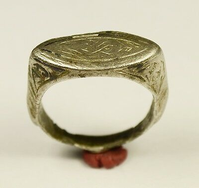 Massive Ancient Roman Silver Legionary Finger Ring - Wearable