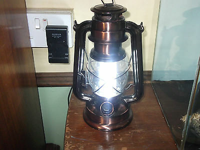 a lovely vintage style hurricane paraffin lamp battery operated