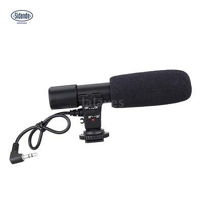 Sidande 3.5mm Recording Microphone Mic for DSLR Camera DV Video Camcorder E1R7