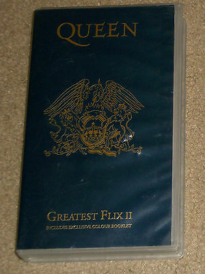 Queen Greatest Flix II VHS Import With Booklet PAL