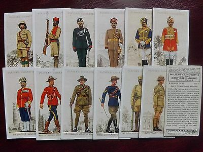 MILITARY UNIFORMS of the BRITISH EMPIRE OVERSEAS - Set of 50 - Players - VG+