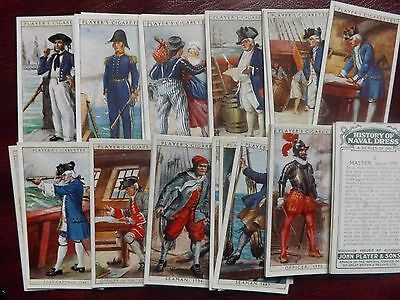 HISTORY OF NAVAL DRESS  - ORIGINAL Complete Set of 50 - Players - 1930 - VG+