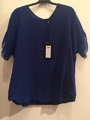 BNWT Y.A.S Royal Blue Top Size 10 RRP £35