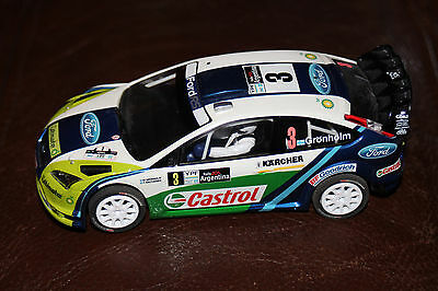 C2802 Scalextric FORD FOCUS RALLY CAR #3 4WD UNBOXED - VGC