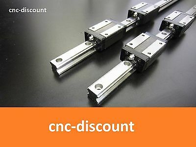 CNC Set 25 x 2000mm 2x Linearführung + 4x Linearwagen orange Linear Guide Welle