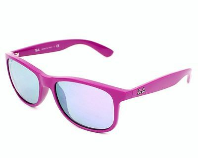 Ray Ban RB4202 6071/4V Grey Mirror Violet Sunglasses Andy Matte Violet & Poly
