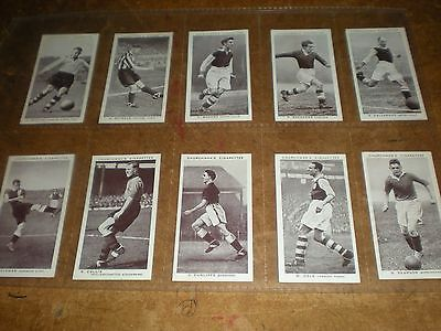 1938 churchman  association footballers (a series)  cigarette cards set of 50