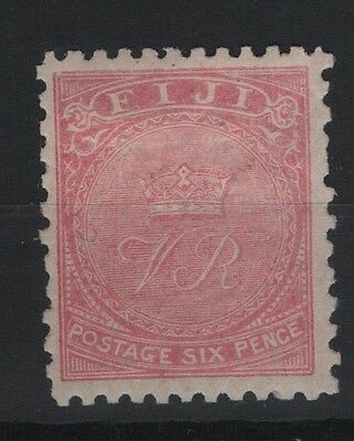 """FIJI SG55 - Crown and """"VR"""" 1878-1900 Perf 11 x 10 6d Pale Rose"""