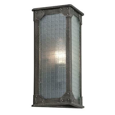 Troy Lighting Outdoor Light Wall Mount Sconce Hoboken 12 in. Lantern Aged Pewter