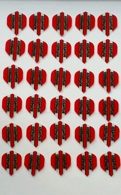 Bulk Pack of 30 Ruthless Extra Strong Dart Flights Red Clear