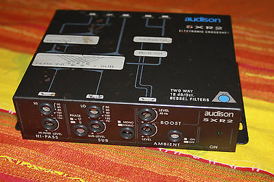 AUDISON SXR2 2 WAY ELETRONIC CROSSOVER SUBWOOFER + FRONT SYSTEM 18dB/Oct