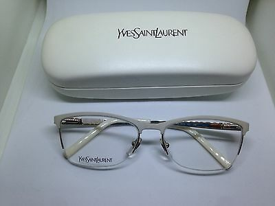 YVES SAINT LAURENT occhiali da vista donna bianchi read glasses woman lunettes
