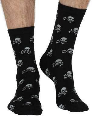 Pirate Men's Super-Soft Bamboo Crew Socks In Black | Exclusive By Braintree