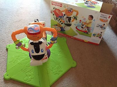 Fisher Price Bounce And Spin Zebra With Box