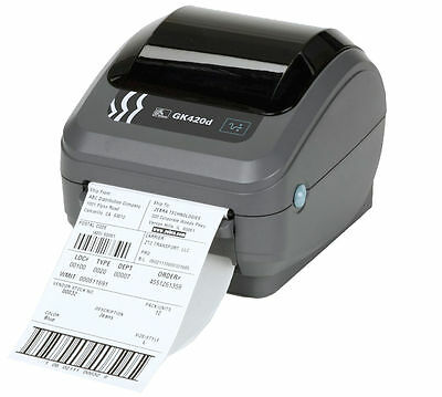 "NEW Zebra GK420d Direct Thermal Label Printer Black & White - Up to 4"" Width"