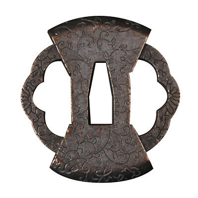Japanese Zinc Alloy Square lattice Tsuba for Samurai Katana Wakizashi Tanto