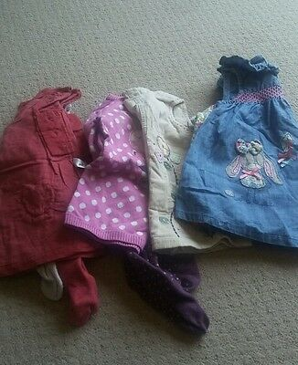 Selection of baby girls winter dresses