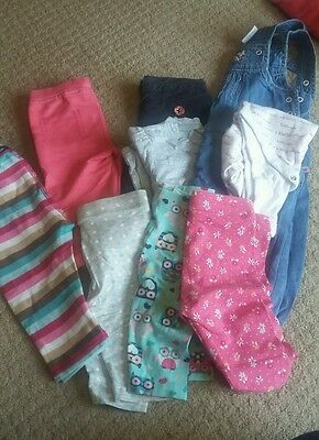 Selection of baby girls trousers/tops