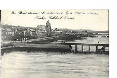 Falkland Islands. Stanley. Ross Road Showing Cathedral and Town Hall in Distance