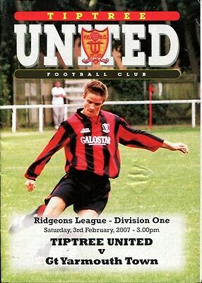 Tiptree United v Great Yarmouth Town 03/02/07 Ridgeons Division 1