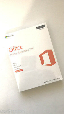 BNIB Microsoft Office for Mac Home and Business 2016 - 1 User RRP £229.95