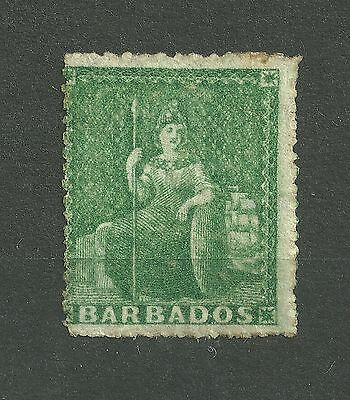 QV 1861-70 Barbados SG20 1/2d deep green - Very Lightly Mounted Mint