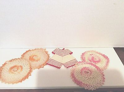 Vintage Lot Of Five Hand Crocheted Pot Holders
