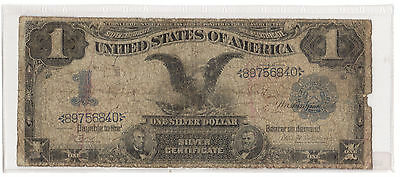 "1899 $1 Dollaro ""black Eagle"" United States Silver Certificate Note Mb+"