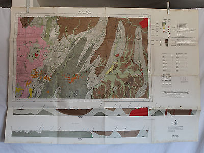 1972 Geological Survey of Victoria Map - Yan Yean -Big  28 x 39 inches