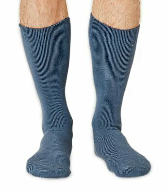 Blair-Rock men's thick bamboo boot sock in denim | By Braintree