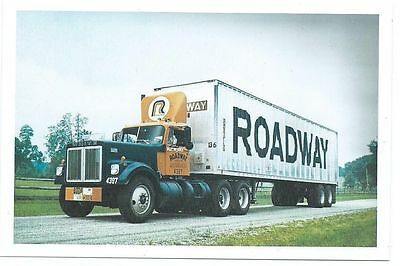 "Roadway Express Big ""R"" truck driver photo late 60's early 70's 4 X 6 in"
