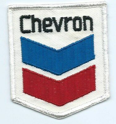 Chevron Gas & Oil employee/driver patch 3-5/8 X 3-1/8 inch