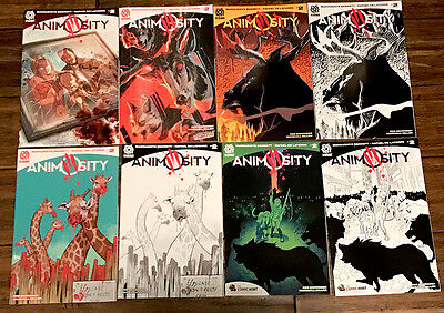 ANIMOSITY #2 8 book set 1st printings All RARE VARIANTS AfterShock Comics LOT NM