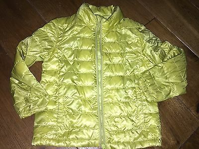 Uniqlo Unisex Padded Kids Jacket Age 5-6 Years Lime Boys Girls Warm